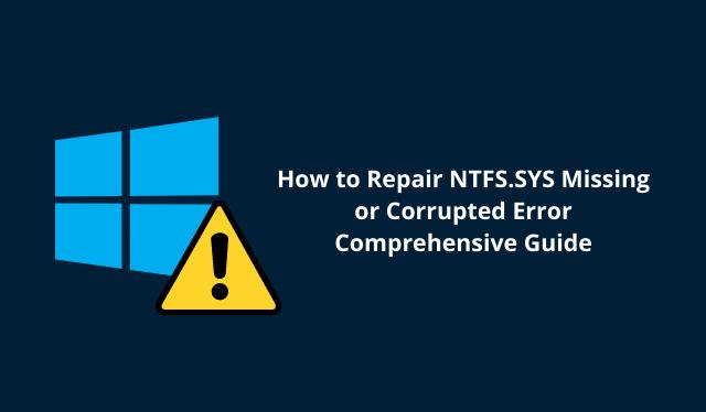 fix ntfs.sys failed